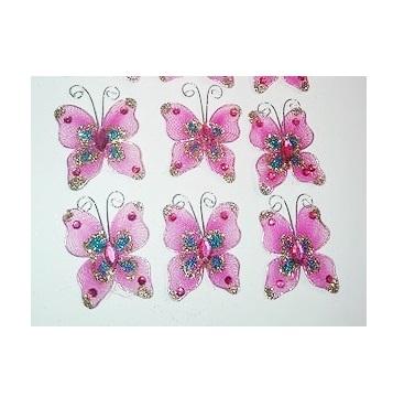 Mariposas de Gasa Rosadas
