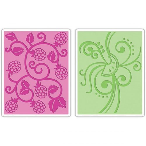 Sizzix Textured Impressions 'Fruit and Vine: Raspberry/ Watermelon' Embossing Folders