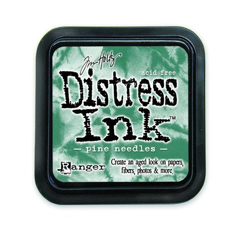 Tinta Distress Tim Holtz Pine Needles.