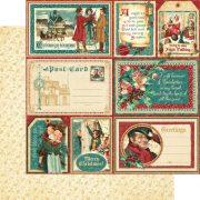 Pack Papeles Graphic 45 Christmas Carol.