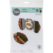 Sizzix Thinlits Die Set Happy Holidays Fold A Long Card