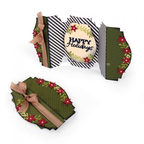 Sizzix Thinlits Die Set Happy Holidays Fold A Long Card
