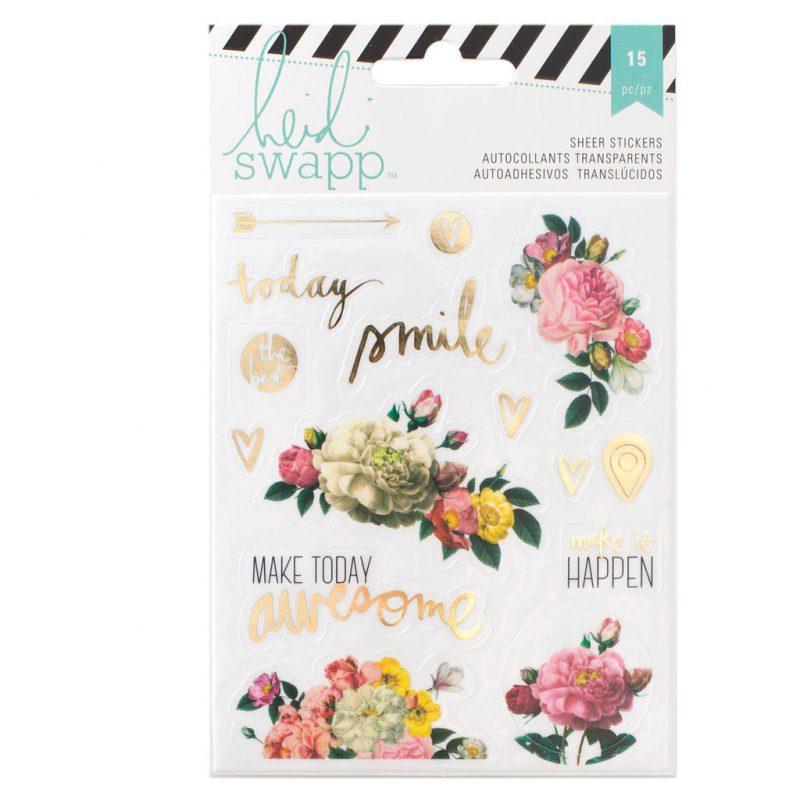 Stickers Floral Memory Planner Heidi Swapp