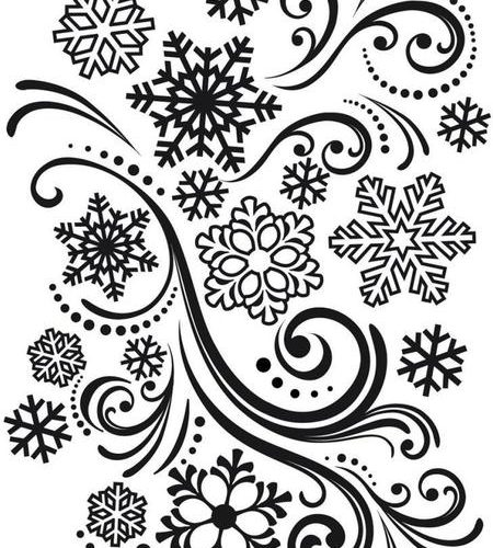 Texturizador Snowflakes And Flourishes, Darice.