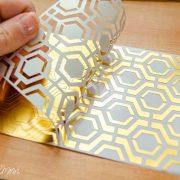 Rollo Lamina Reactiva Foil Color Dorado Minc